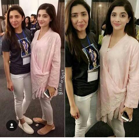 Mahira Khan and Mawra Hocane at Lux